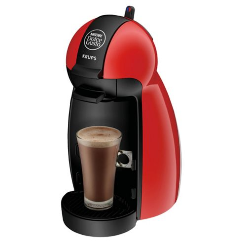 Nescafe Dolce Gusto Piccolo Multi Beverage Red Coffee Machine by Krups