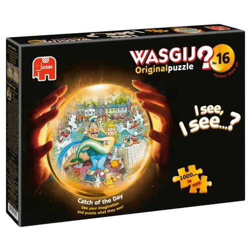 Jumbo Games Wasgij Original 16 Catch Of The Day 1000 Piece Jigsaw Puzzle