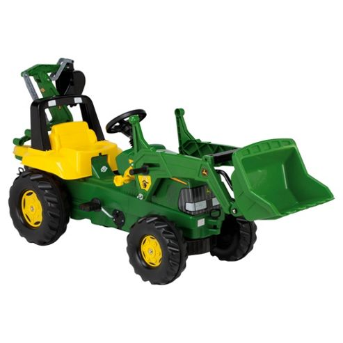 Rolly John Deere Tractor Loader Excavator Ride-On