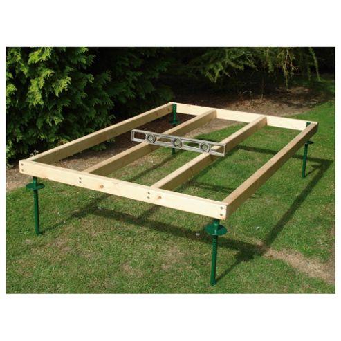 Adjustable shed base legs