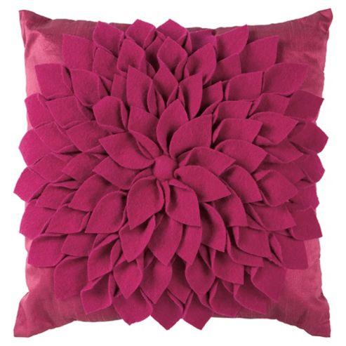 buy tesco felt floral cushion from our cushions range tesco. Black Bedroom Furniture Sets. Home Design Ideas
