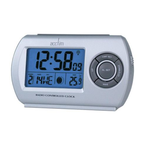 Acctim Denio Radio Controlled LCD Alarm Clock