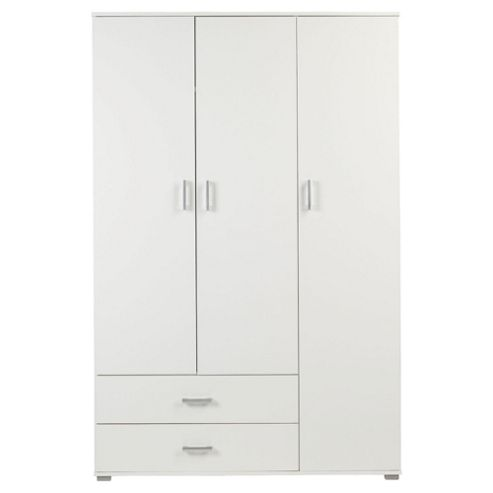 Fresno 3 Door Wardrobe, White