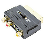 Technika Scart Adaptor with Switcher 3 Phono to Scart