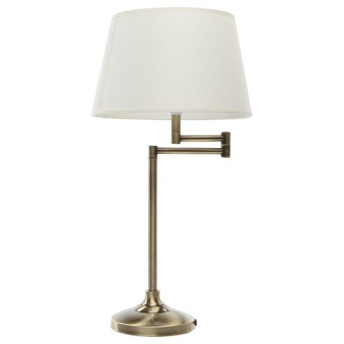 Tesco Lighting Swing Arm Table Lamp, Antique Brass