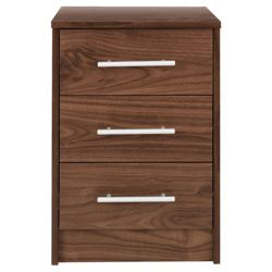 Kendal Bedside Chest, Walnut-Effect