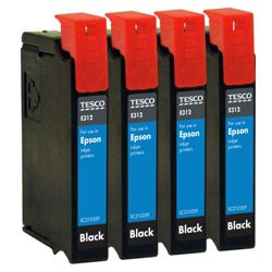Tesco E312 Black Printer Ink Cartridge Multipack (Compatible with printers using Epson T0711 Printer Ink Cartridge)
