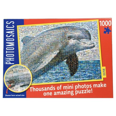 Paul Lamond Photomosaic Dolphin Puzzle 1000 piece