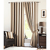 Dreams and Drapes Whitworth Lined Eyelet Curtains 90x90 inches (228x228cm) - Natural