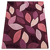 Tesco Rugs leaves rug 150x240cm plum