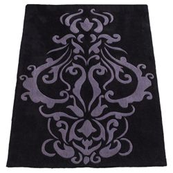 Tesco Rugs Damask Rug 150x240cm Black