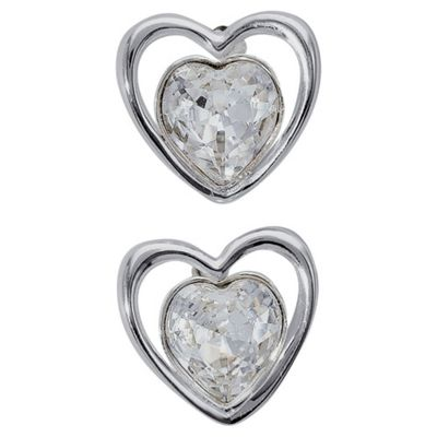 ICE BRIGHT earrings, Sterling Silver Crystal Heart, made with SWAROVSKI ELEMENTS