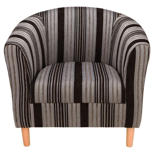 Tub Chair, Stripe Black