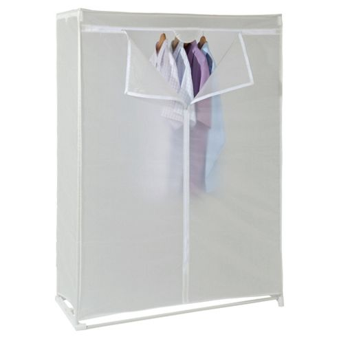 Double covered tidy rail wardrobe
