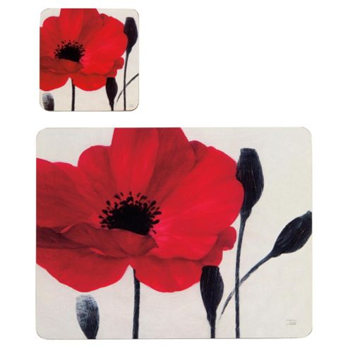 Tesco Poppy Set of 8 Placemats and Coasters