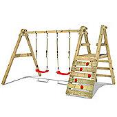 Wickey SkyWalker 240 Wooden Double Swing Set