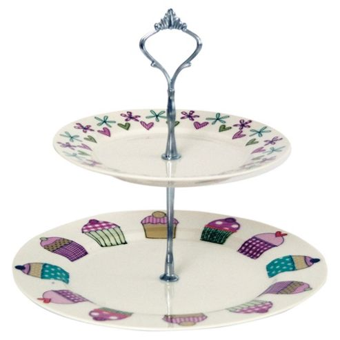 Tesco Time for Tea Fine China Cake Stand