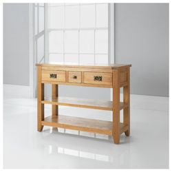 Ascot Console Table, Oak Finish