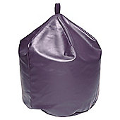 Large Faux Leather Beanbag, Plum