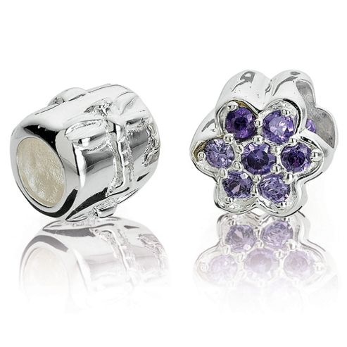 Sterling Silver Flower Charm 2 Pack