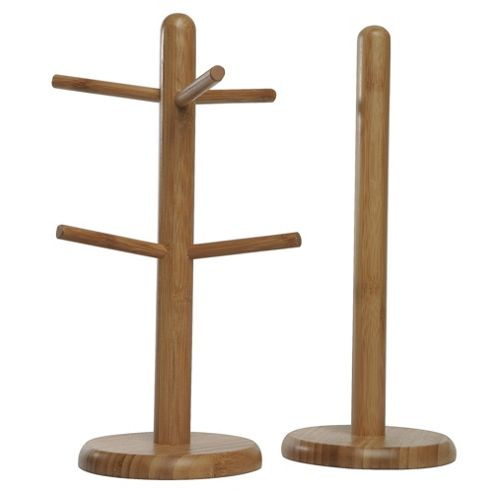 Tesco Bamboo Kitchen Accessories Set