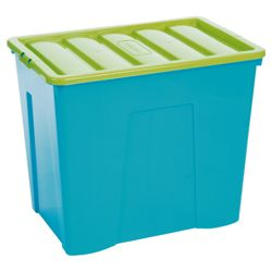 Wham 160L box with lid, 2 pack blueberry and lime