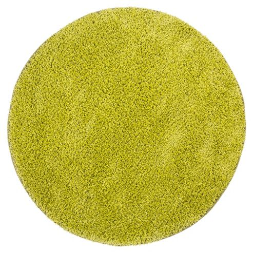 Tesco Rugs Circle Shaggy Green