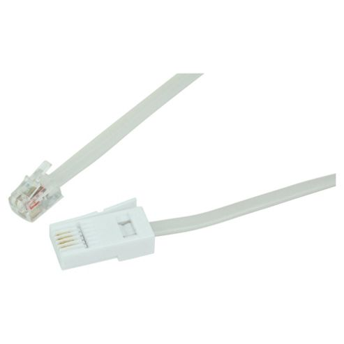 Tesco Modem Cable For Telephone 1.8M White