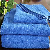 Homescapes Turkish Cotton Royal Blue Bath Towel Set