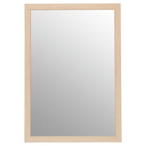 Basic Mirror - Beech Effect 84x57cm