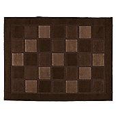 Tesco Rugs Squares Rug 160X230Cm Choc