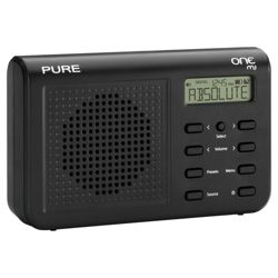 PURE ONE Mi Portable DAB/FM Radio, Black