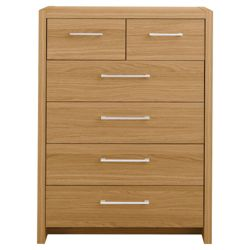 Manhattan 6 Drawer Chest, Oak-Effect