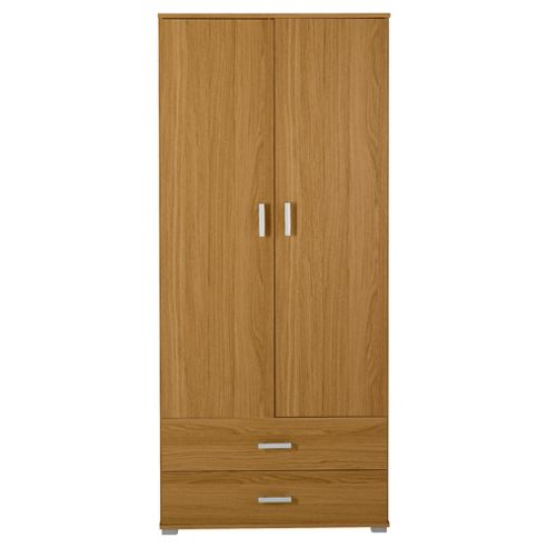 Fresno 2 Door Wardrobe, Oak Effect
