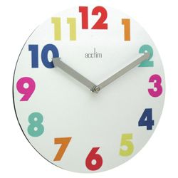 Acctim White Multi Colour Wall Clock