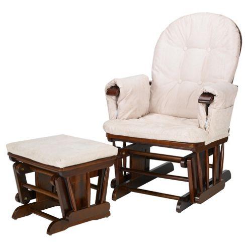 Tutti Bambini GC35 Glider Chair & Stool, Walnut