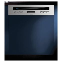 Baumatic BDS670SS Semi-Integrated Full Size Dishwasher, A Energy Rating. Stainless steel