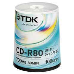 TDK CD-R 100 Pack