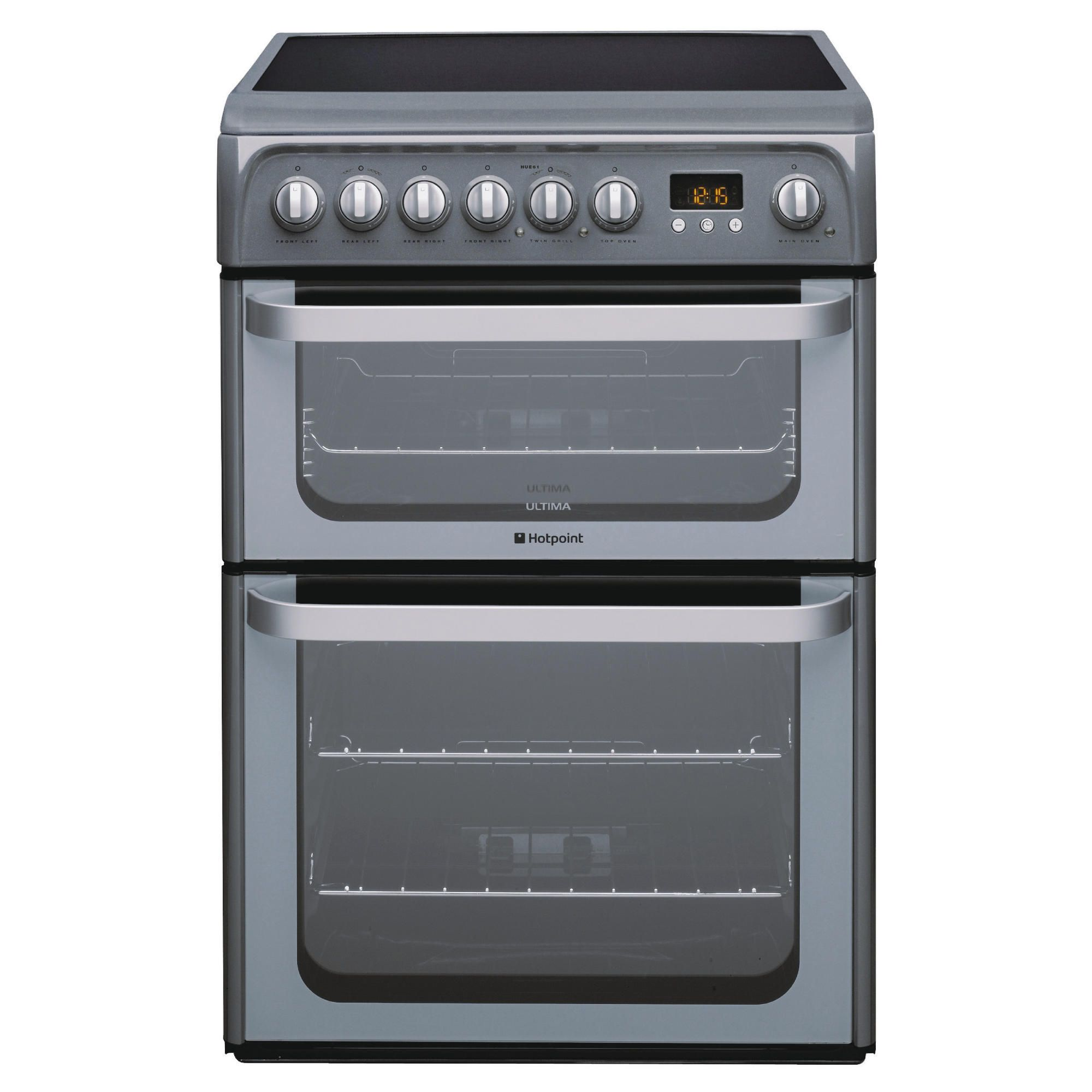 Hotpoint HUE61G Graphite Electric Cooker at Tesco Direct