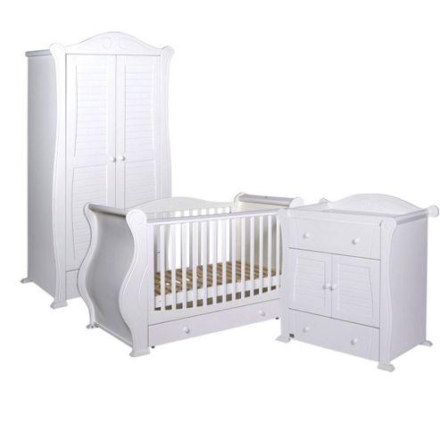 Tutti Bambini Marie 3 Piece Nursery Room Set, White