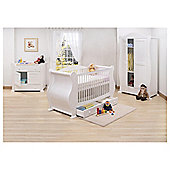 Tutti Bambini Marie 3 Piece Sleigh Room Set, White with Free Sprung Mattress