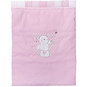 Obaby B is for Bear Crib Quilt and Bumper in Pink (Set of 2) - Pink