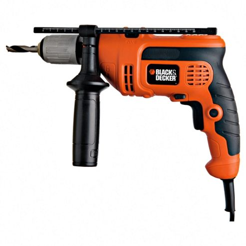 BLACK+DECKER 600W Corded Percussion Hammer Drill KR604CRESK
