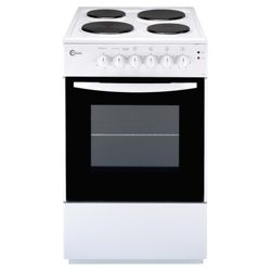 Flavel FSE50W 50cm White Single Electric Cooker