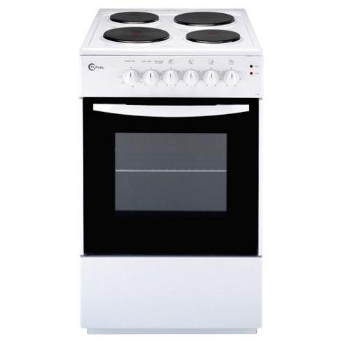 Flavel FSE50W 50cm White Single Electric Cooker