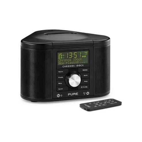 PURE CHRONOS iDOCK II MP3/DAB/DAB+/FM ALARM SYSTEM WITH iPOD DOCK (BLACK)