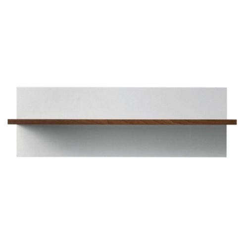Como Floating Single Shelf, Walnut & White