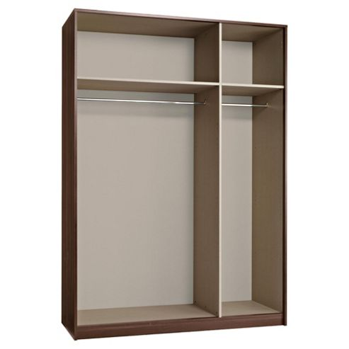 Modular Triple Wardrobe Frame, Walnut-Effect