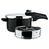 Prestige Smartplus 5L Aluminium Pressure Cooker, Black
