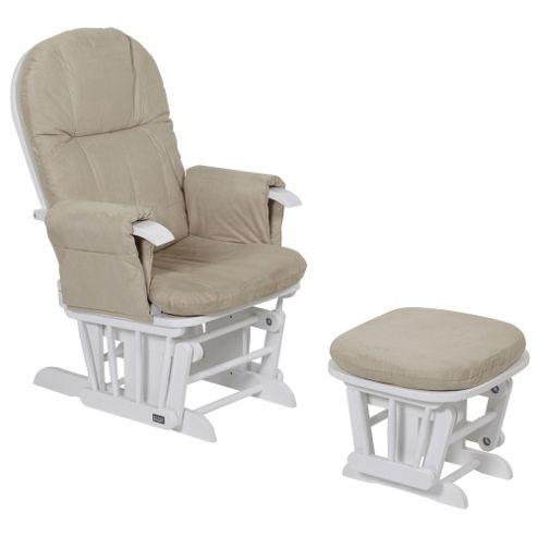 Tutti Bambini GC35 Glider Chair & Stool, White